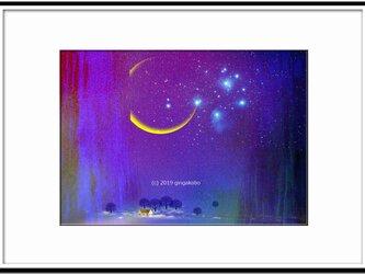 「春の静夜」 ほっこり癒しのイラストA4サイズポスターNo.642の画像