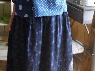 久留米絣水玉スカートの画像