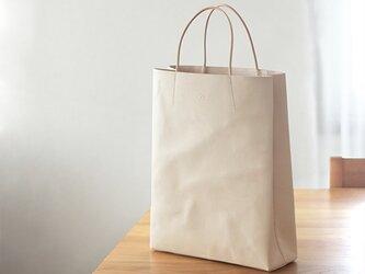 (NEW)大人の革袋M・A4が入る)・ナチュラル[受注生産品]の画像