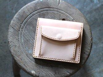 【受注生産品】コインが取り出しやすい二つ折り財布 ~栃木ヌメ~の画像