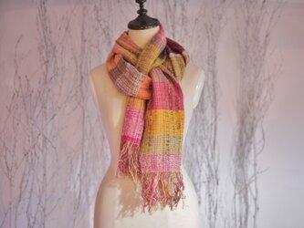 手織り ストール/春秋向の画像