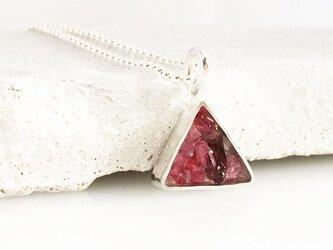 天然ピンクサファイア・スピネル原石◆Jewel Box Triangle SVペンダントの画像