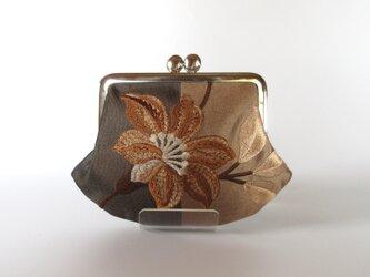 刺繍のがま口: 茶色系 英国製の画像