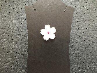 桜のピンバッチLルビーの画像