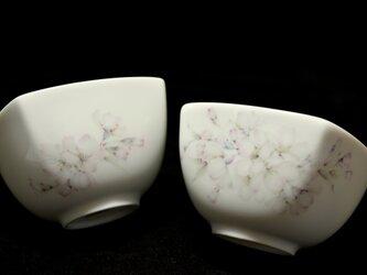 桜の湯呑茶碗の画像