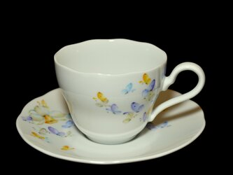 蝶と水仙のカップ&ソーサー Aの画像