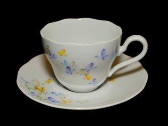 蝶と水仙のカップ&ソーサー Bの画像