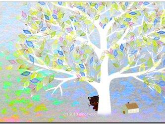 「ちょっとお話していい?^^」 ほっこり癒しのイラストポストカード2枚組No.734の画像