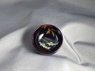 輪島塗ぐい吞み 溜塗 若鮎蒔絵 の画像