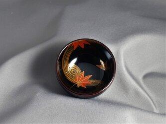 輪島塗ぐい吞み 溜塗 竜田川蒔絵 の画像