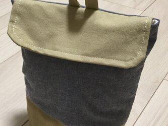 コップ袋 ダンガリー×帆布の画像