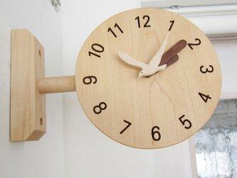 コーナー掛け時計の画像