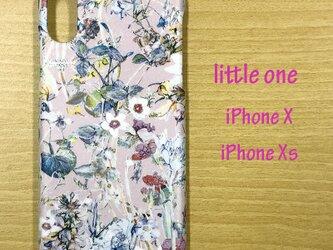 【リバティ生地】ワイルド・フラワーズピンク iPhoneX & iPhoneXsの画像