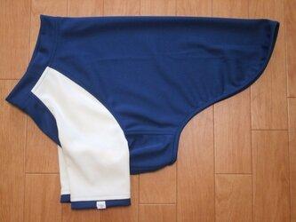 犬服 [受注生産]:大型犬用長袖Tシャツ(紺&白)11号の画像