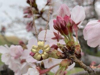 さくらの花ムーンストーンペンダントの画像