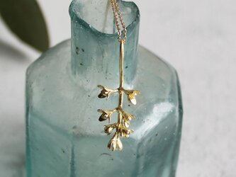 K18 オリーブの花のネックレスの画像