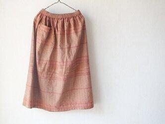 手織り綿のふわっとギャザーの画像