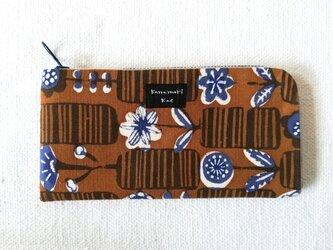 型染め 長財布「花図鑑」の画像