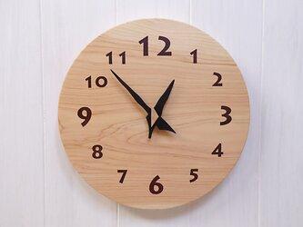 ヒノキの時計 26センチ 048s 文字盤茶色の画像