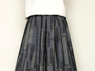 大島紬リメイク:タックスカートの画像