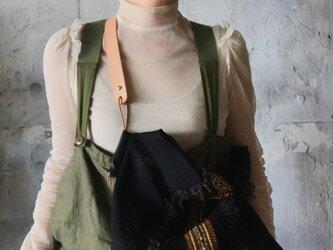 lace shoulder bag (black)の画像