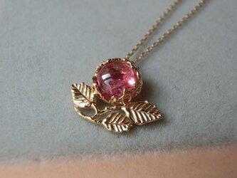 桃色野花のペンダント [ピンクトルマリン] の画像