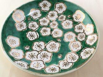 金彩梅絵皿の画像