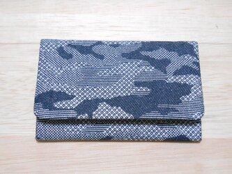 #名刺入れ #カードケース #銀ラメデニム製 #カモフラ #迷彩 銀 #京都城陽銀糸の画像