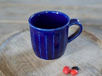 瑠璃釉 マグカップ(面)の画像