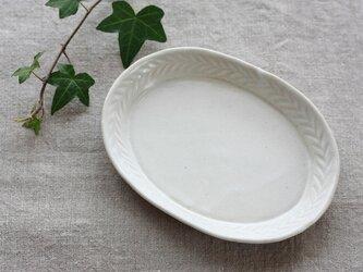 leafだえん皿(大/白)の画像