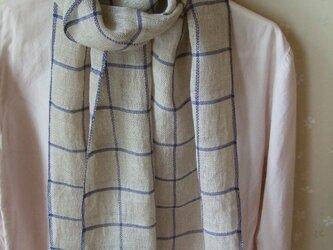 手織り麻ショールの画像
