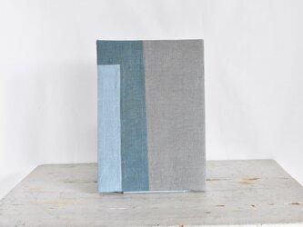 B5ノートカバー|草木染め モダンキルトのノートカバー#06の画像