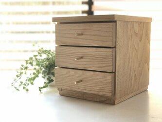 天然オイル仕上「栗の木」オリジナルボックス ◆ 魔法の箱 ◆ ゴールドつまみの画像