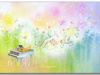 「春が謳い、躍る」 ほっこり癒しのイラストポストカード2枚組No.740の画像