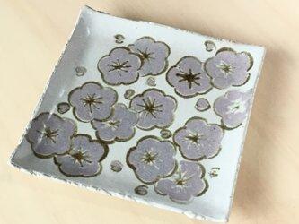 梅絵角皿の画像
