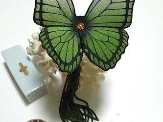 蝶のかんざし(大)モルフォの画像
