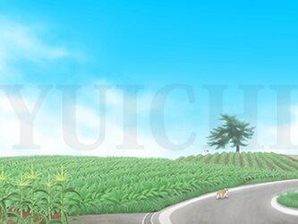 フルスクリーンB5ポスター「青空畑」(額装済み)の画像