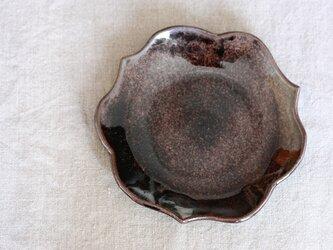 waveまる皿(中/黒)の画像