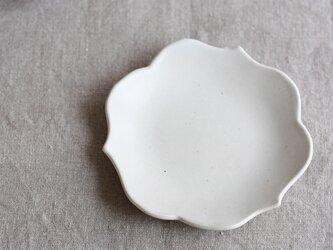 waveまる皿(白)の画像