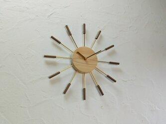 壁掛け時計 / 国産ヒノキ&ウォールナットの画像