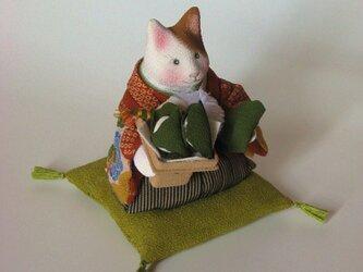 縮緬福猫 ちまきと柏餅の画像