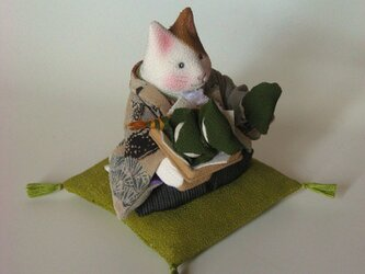 縮緬福猫 ちまきと柏餅 その二の画像