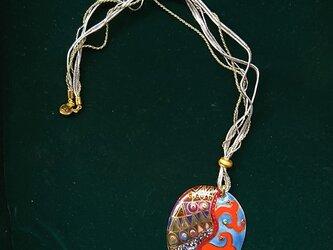 七宝焼ペンダント クリムト風の画像