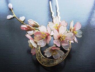 【受注制作】月夜桜(かんざし)の画像
