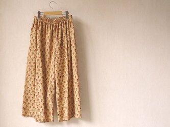 ぺたぺた木版更紗のパンツの画像