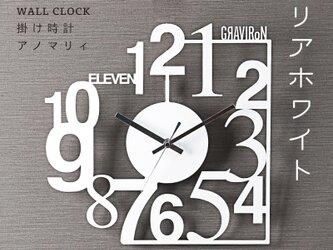 ANOMALY WALL CLOCK 掛け時計 (クリアホワイト) - GRAVIRoNの画像