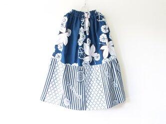 ☆パッチワーク浴衣ミディロングスカート☆/31ys23の画像