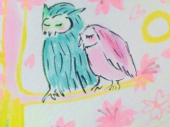 And  Others 46 (桜とハッピーフクロウ  Happy Owl)の画像