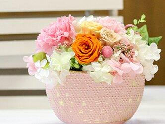 はんなり和・カーネーションとオレンジローズ カーネーション プリザーブドフラワー 花の画像
