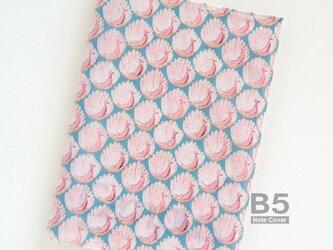 リバティ B5大学ノートカバー ピーコックスオブグランサムホール 水色の画像